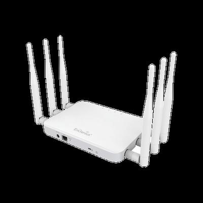 ECB1750 Punto de Acceso y Repetidor para Interior ENGENIUS ac (3x3) de Largo alcance, 800mW de potencia, Doble Banda Simultanea 1300 Mbps en 5 GHz y 450 Mbps en 2.4 GHz, 6 Antenas desmontables de 5 dBi, Soporta PoE 802.3at