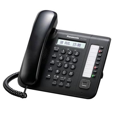 KX-DT521X-B Nuevo telefono propietario digital, pantalla lcd nitida retroiluminada y de mayor tamaño, compatible con banda ancha y audifono (hac) altavoz, 8 niveles de volumen, 30 tonos de llamada color negro